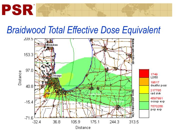 Braidwood Total Effective Dose Equivalent