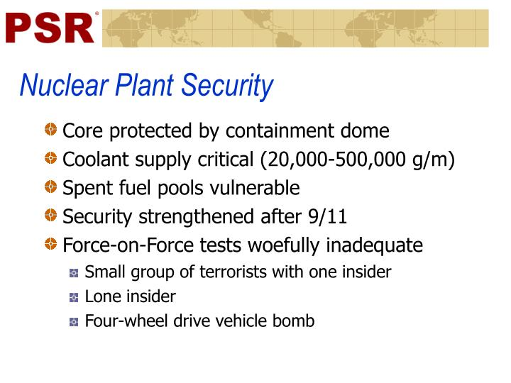 Nuclear Plant Security