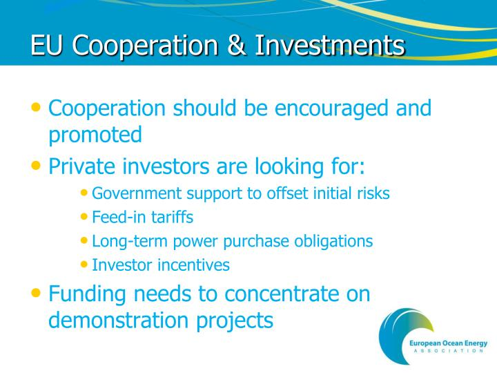 EU Cooperation & Investments