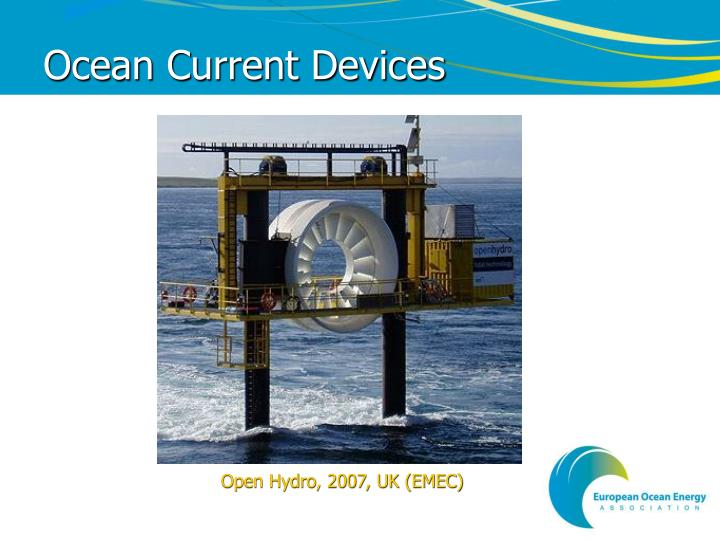 Ocean Current Devices