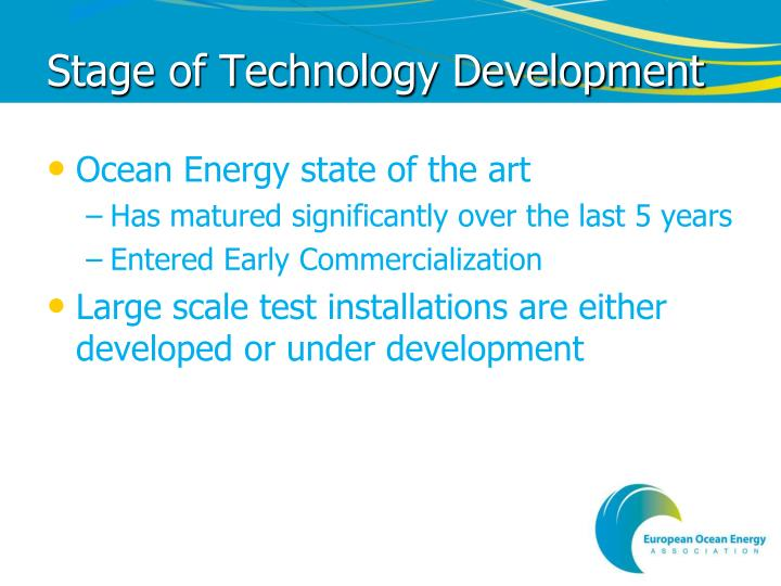 Stage of Technology Development