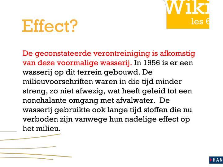 Effect?