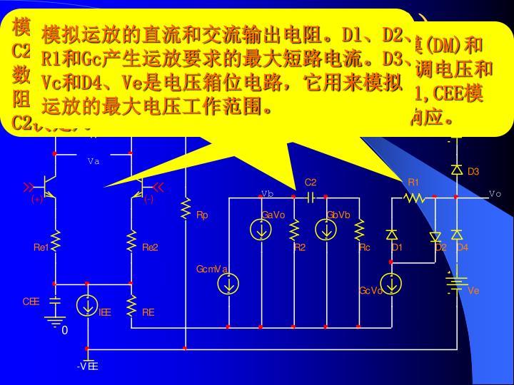 模拟运放的差模和共模电压增益