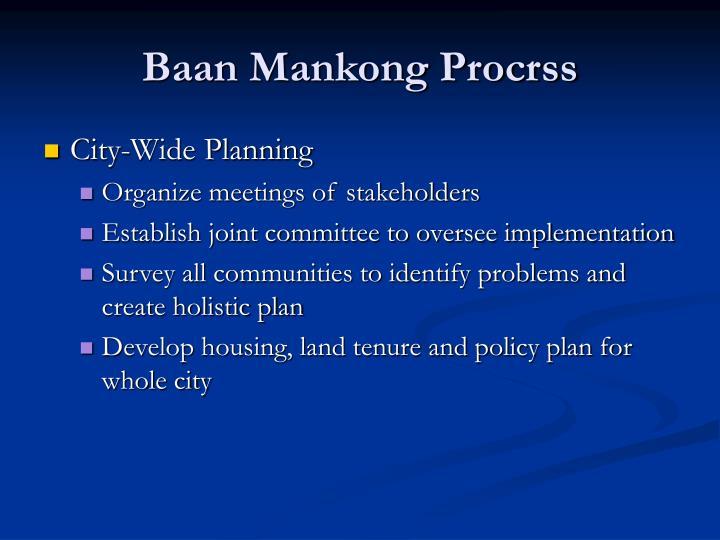 Baan Mankong Procrss