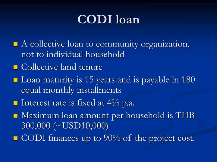 CODI loan