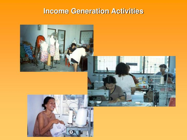 Income Generation Activities