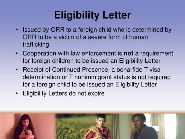 Eligibility Letter