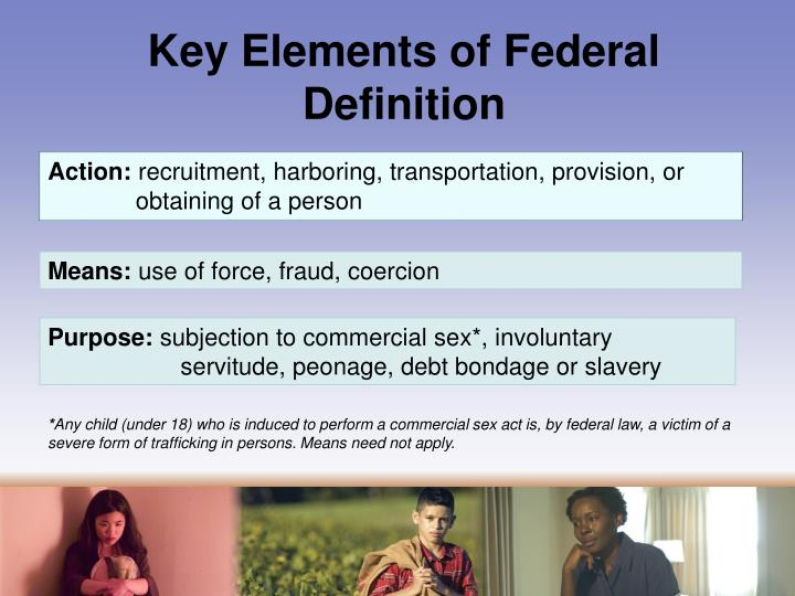 Key Elements of Federal Definition