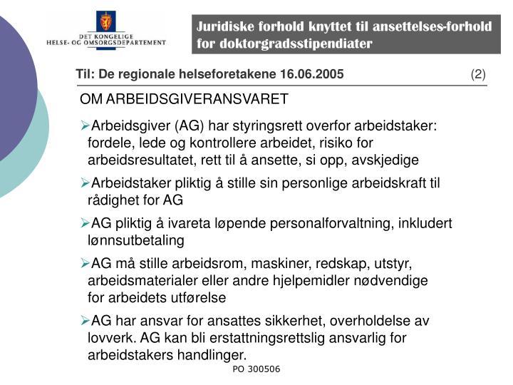 Juridiske forhold knyttet til ansettelses-forhold for doktorgradsstipendiater