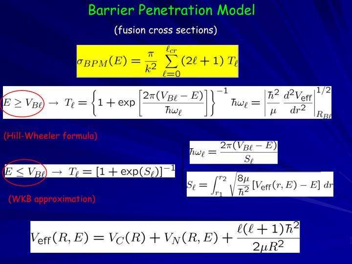 Barrier Penetration Model