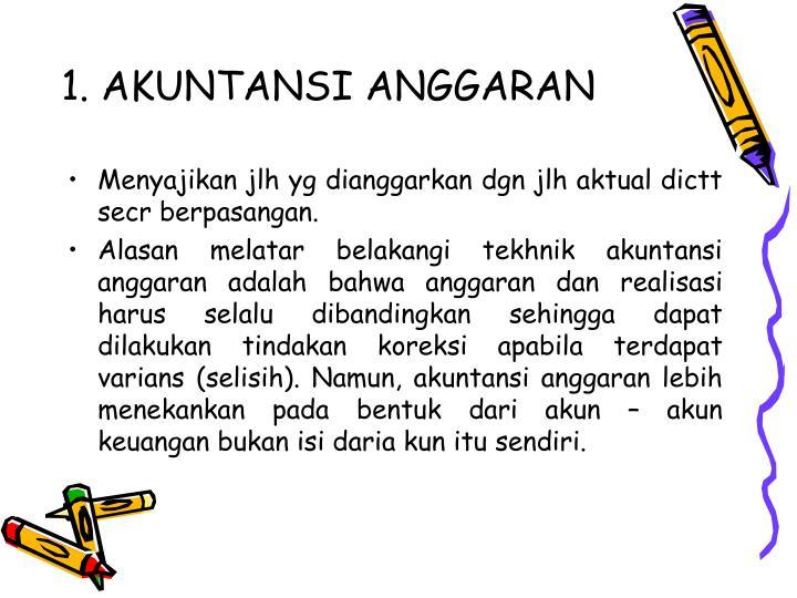 1. AKUNTANSI ANGGARAN