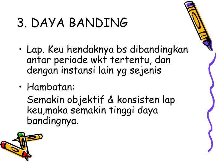 3. DAYA BANDING