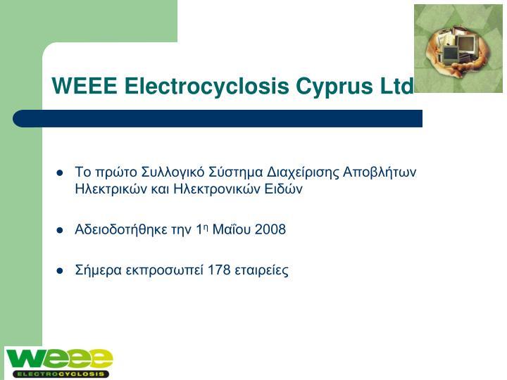 WEEE Electrocyclosis Cyprus Ltd