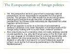 the europeanisation of foreign policies1