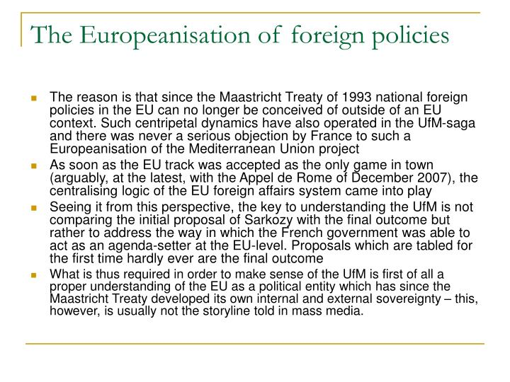 The Europeanisation of foreign policies