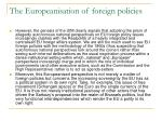 the europeanisation of foreign policies3