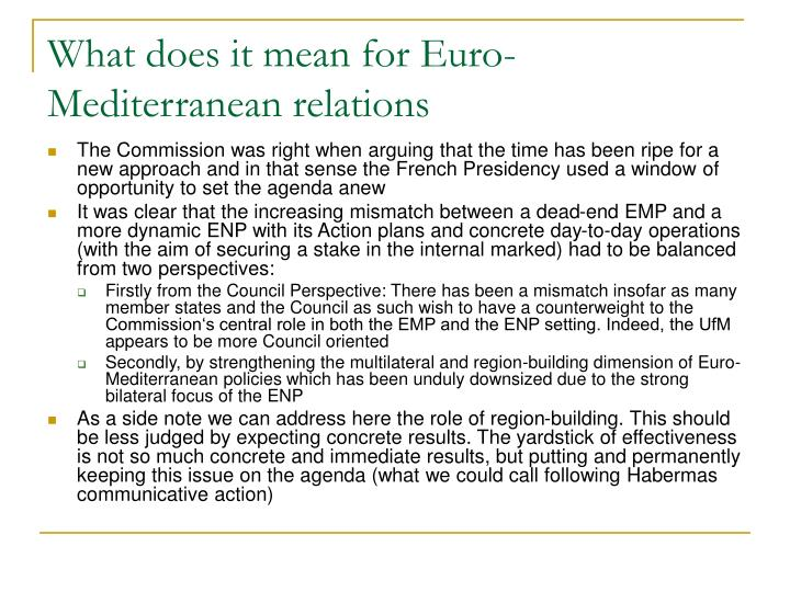 What does it mean for Euro-Mediterranean relations