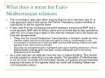 what does it mean for euro mediterranean relations