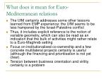 what does it mean for euro mediterranean relations1