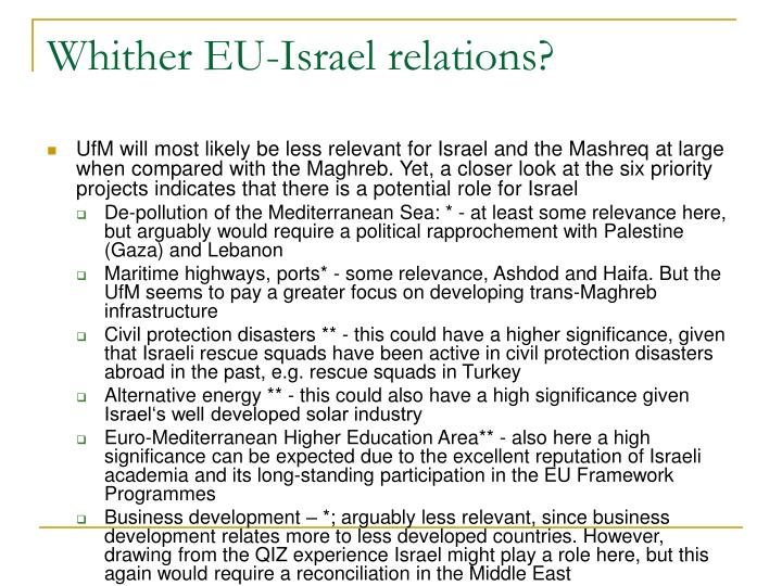Whither EU-Israel relations?