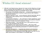 whither eu israel relations