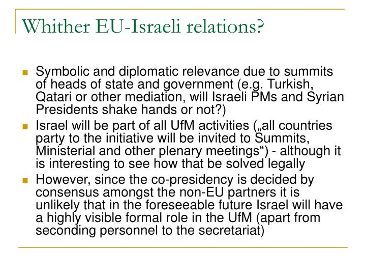 Whither EU-Israeli relations?