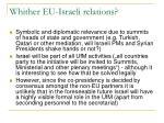 whither eu israeli relations