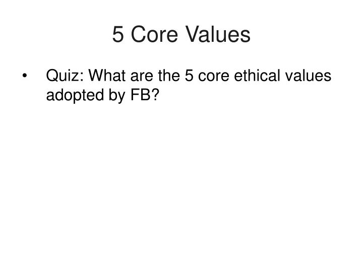5 Core Values