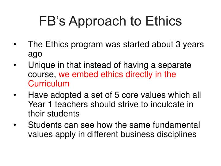 FB's Approach to Ethics