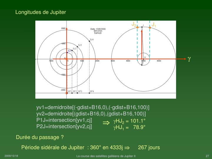 Longitudes de Jupiter