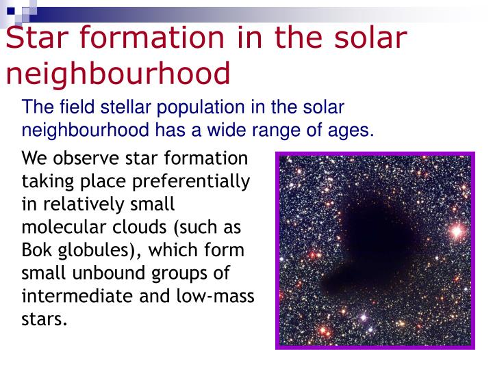 Star formation in the solar neighbourhood