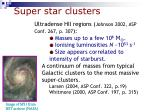 super star clusters