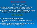 beta blokatorlar