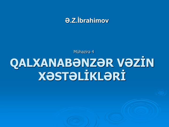 Mühazirə 4