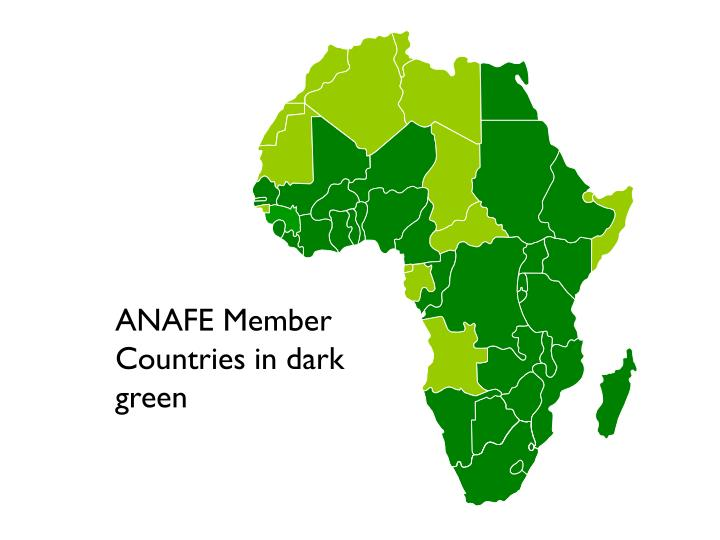 ANAFE Member Countries in dark green