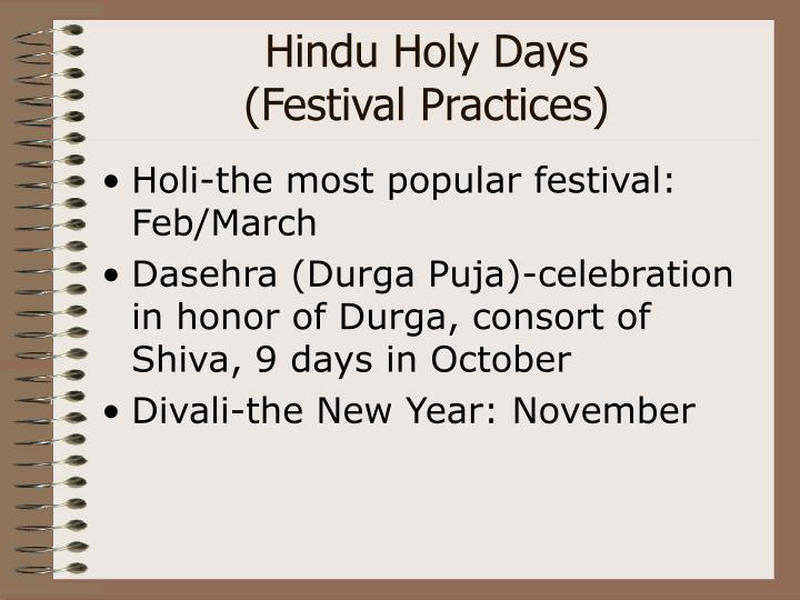 Hindu Holy Days
