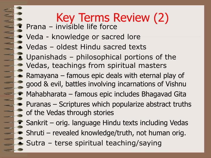 Key Terms Review (2)