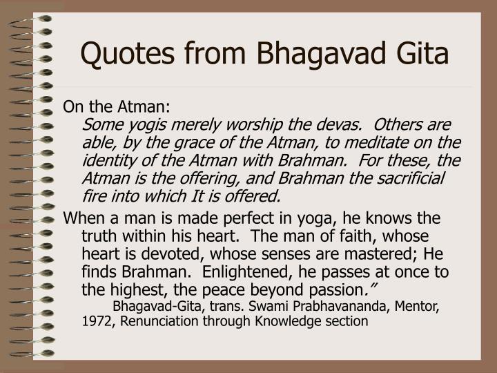 Quotes from Bhagavad Gita
