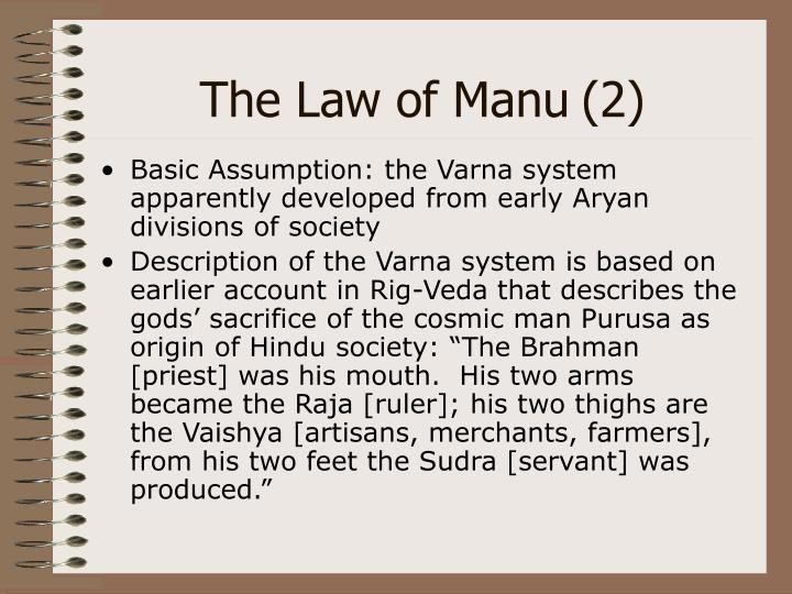 The Law of Manu