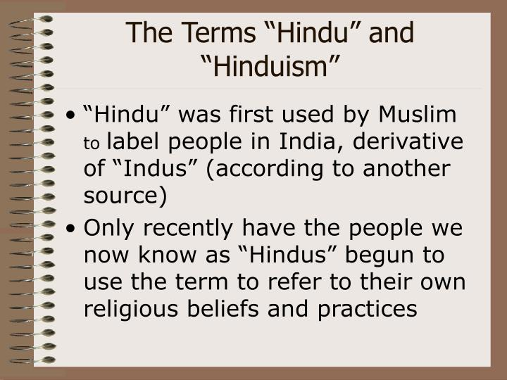 "The Terms ""Hindu"" and ""Hinduism"""