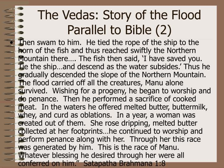 The Vedas: Story of the Flood Parallel to Bible (2)