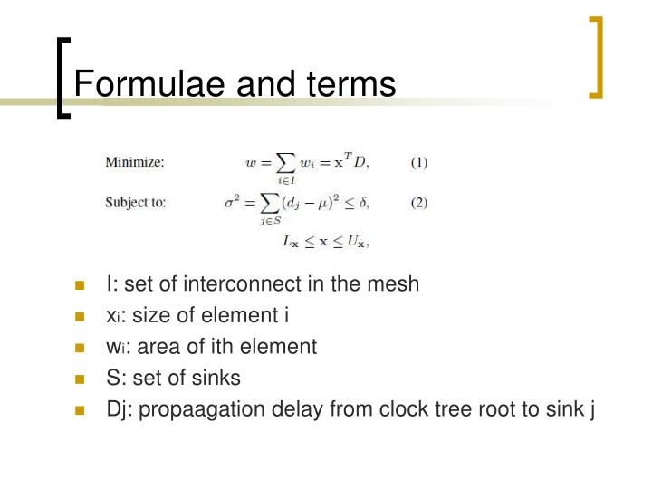 Formulae and terms