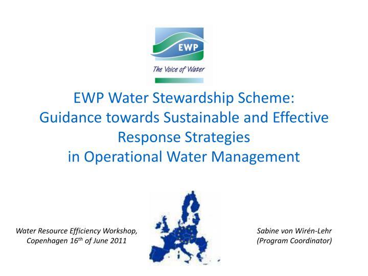 EWP Water Stewardship Scheme: