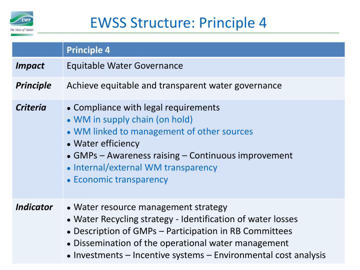 EWSS Structure: Principle 4
