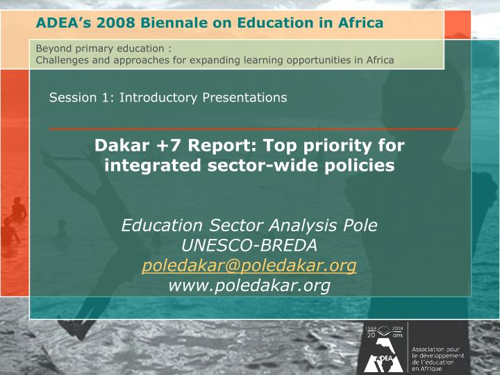 ADEA's 2008 Biennale on Education in Africa