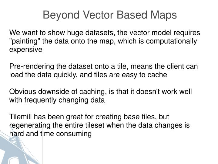 Beyond Vector Based Maps