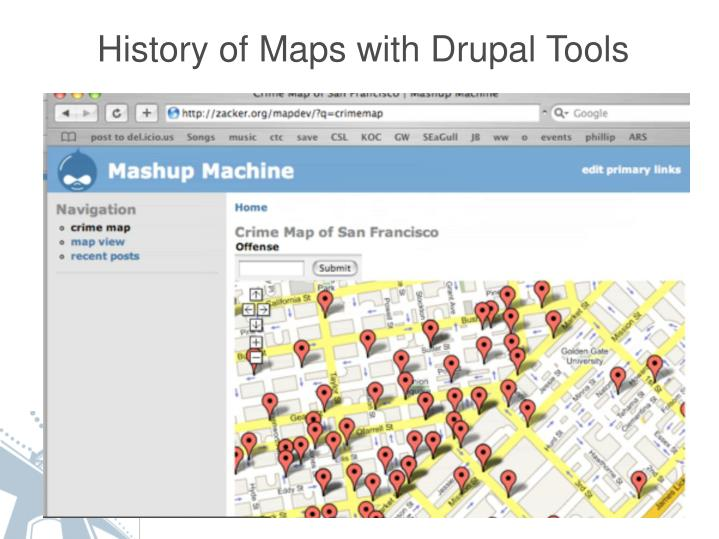 History of Maps with Drupal Tools