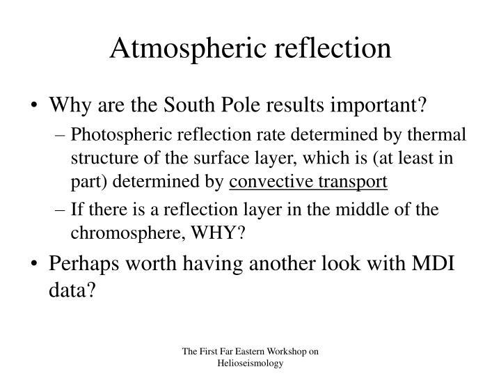 Atmospheric reflection