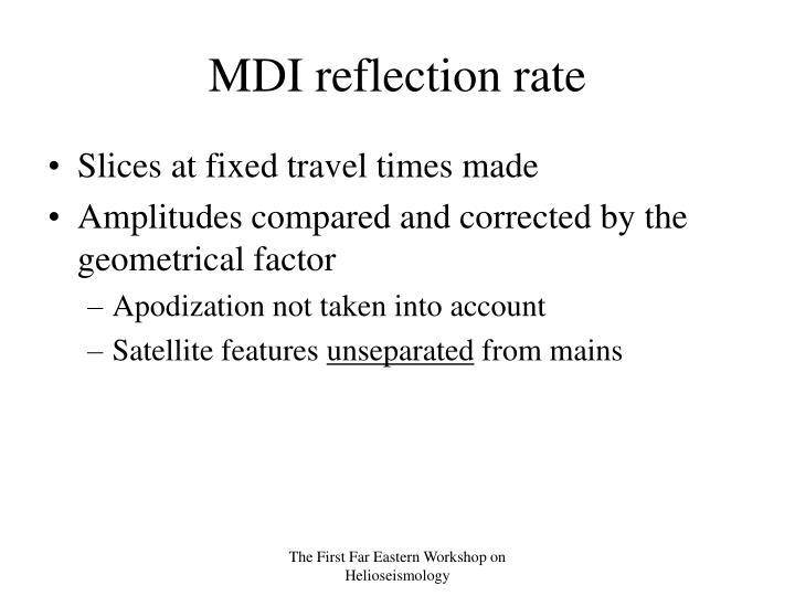 MDI reflection rate