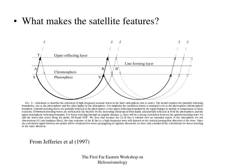 What makes the satellite features?